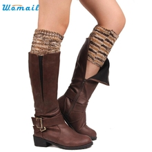 1 Pair Winter Women Hollow Out Crochet Knitted Leg Warmer Trim Socks Cover for Boot Amazing Aug 18