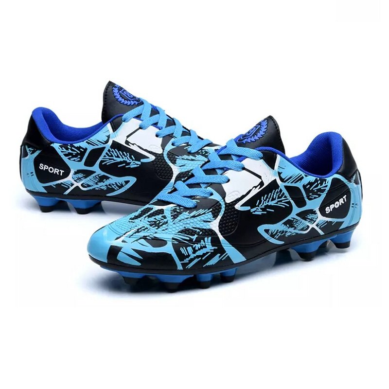 Cheap Children Football Boots boy Footy shoes Kids Soccer Cleats Boy Soccer training Boots For Sale Green/Blue Training Football<br>