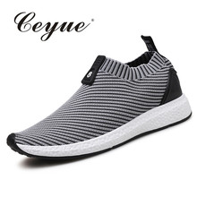 Ceyue Hot Running Shoes For Men 2017 Breathable Outdoor Sports Shoes For Male New Cheap Slip-On Men Athletic Sneakers Zapatillas(China)