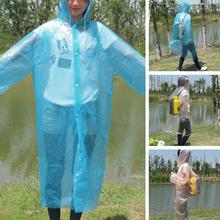 Fashion Adult Emergency Disposable Raincoat Women Man PE Transparent Rain Coat Poncho
