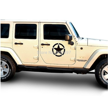 The US Army Star Sticker Car Whole Body Decal for JEEP Toyota Ford Chevrolet Volkswagen Tesla Honda Hyundai Lada(China)