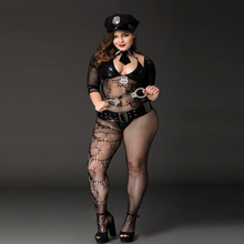 Buy High quality Big Size Halloween Cosplay Costume Police Women Plus Size Fantasia Quente Erotic Baby Doll Lingerie