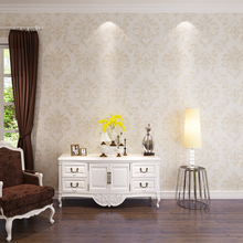 HANMERO 2017 New Fashion Damask Design Wallpaper Leaf Pattern PVC Wallpaper Golden and Silver Color Bedding Room QZ0398(China)