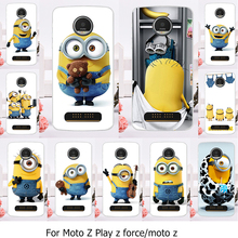 AKABEILA Phone Case For Motorola Moto Z Force Play X4 Edition Verizon Vector maxx Droid 2016 XT1635 XT1650 XT1650-05 Minions Bag