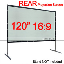 120 Inches 16:9 Wall Mounted PVC Rear Projection Screen Fabric Curtain for Any Home Theater Outdoor Movie Film Projectors
