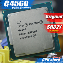 Intel Pentium Processor G4560 LGA1151 3.5GHz / 3MB 14nm Dual-Core 100% working Desktop PC cpu Processor free shipping sell g4400
