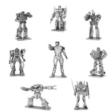3D Metal Puzzle of Iron Man/GUNDAM/Transformer Assemble Mini 3D Model Kits From Laser Cut Metal Sheets for Kids Educational Toys(China)