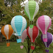 7Pcs 30cm multicolor Paper Chinese wishing lantern hot air balloon Fire Sky lantern for Birthday Wedding Party color