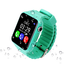 "Children smart watch GPS LBS tracker Security Anti-lost Waterproof 1.54""glass Screen With Camera Kids SOS MTK2503 CPU fast speed"
