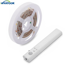10pcs Dual Mode Led Strip Sensor Waterproof Night Light Automatic Motion Activated Indoor Wall Security Lamp for Closet Bed Home(China)