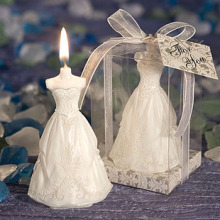 wedding favor candle for guests-- The Perfect bride Dress Scented Candle party decorations 60pcs/lot(China)