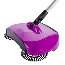 PanlongHome 2017 New Lazy Household Cleaning Non-electrical Automatic Hand-moving  Magic Broom Dustpan Combination