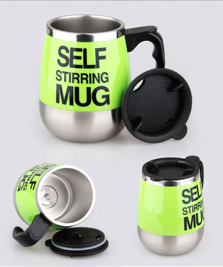 450ml Stainless Steel Self Stirring Mixing Mug Protein Shaker Multifunction Smart Mixer Blender Cup Automatic Electric Coffee Mugs (9)