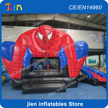 free shipping!6x4m spiderman inflatable bounce house inflatable jumping bounce house,inflatable bouncy castle,inflatable bouncer