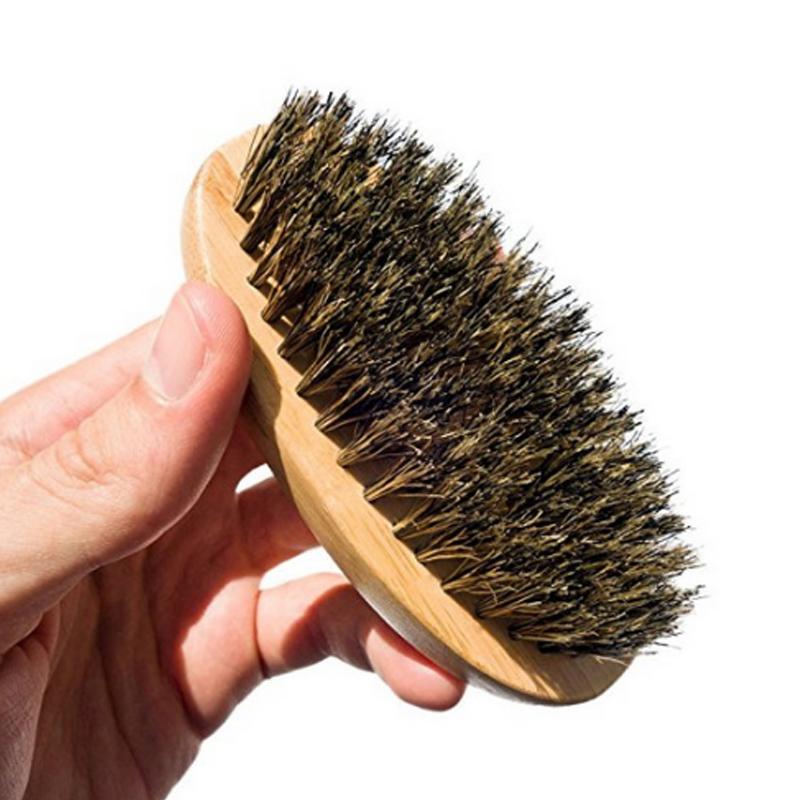 3pcs natural wooden beard comb boar bristle hair brush lice comb men beard apron barber salon cape hairdressing for haircut 10