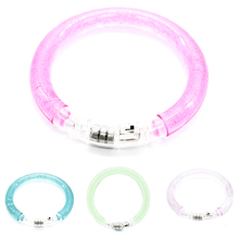 1 Pcs transparent LED Acrylic glowing bracelet light up for party/bar/Halloween 5Colors to Choose Kid Best Gift