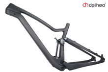 carbon mountain bike frames for sale 29er full MTB suspension frameset 29ER+frame/headset/142*12 Thru axle(China)