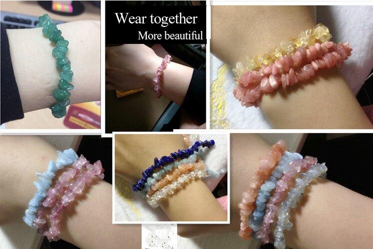 Natural quartz crystals tumbled stones Wealthy healing stones bracelet make of tumbled stones (1)