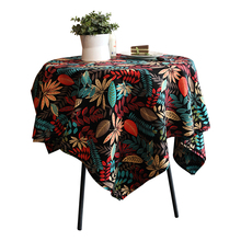 Tropical Plant Leaves Multiple Sizes Printed Banquet Outdoor Table Cloth For Home Party Decoration TableCloth