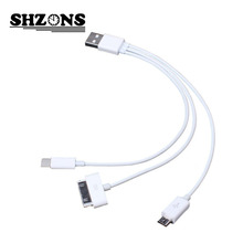 Newest three in one USB Charging&Data Cable Three in ONe Multi Functions Lines for Apple Samsung Xiaomi Cell phone X108
