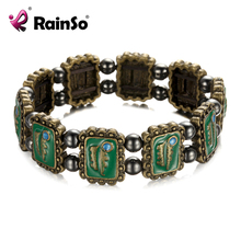 "Free Shipping RainSo Magnetic Hematite Bracelet Bangle Hematite Jewelry Wraps 7.5"" for Women OHB-606"