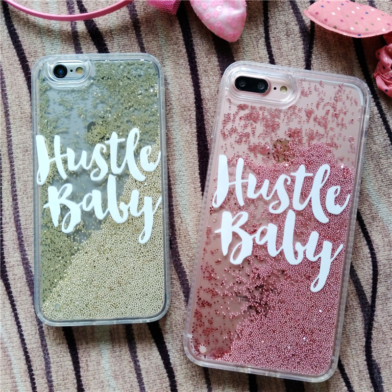 Meachy Ball Beads Quicksand Liquid Case iPhone 7 6 6s Plus Case Fashion Glitter Diamond Bling Hard Back Cover Shell F45