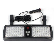 12 Modes 86 LED Emergency Warning Car Auto Visor Police Strobe Light Blue Red 86LED White Amber Yellow Green