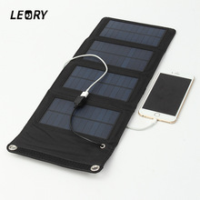 7W Solar Charger Solar Panel Camping Travel Portable Outdoor Foldable For Cellphone Mobile Tablet Kits USB Battery Charging Kits(China)