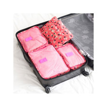 6pcs/Set Travel Packing Organizers Men and Women Polyester Luggage Suitcase Pouch Bra Cosmetic Clothes Organizer Bags