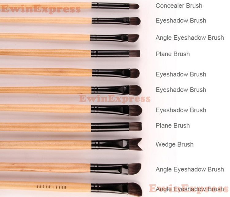 1 X Professional Black 32Pcs Makeup Brush Kit Cosmetic Brushes For Make Up Set Lot Wood  1 Set = 32Pcs<br>