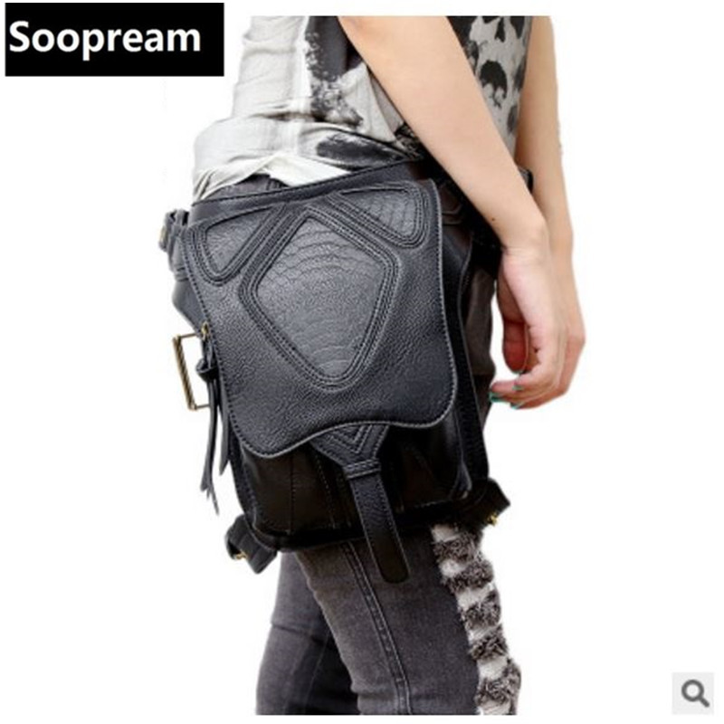 punk women messenger Crossbody bag Thigh Holster Protecte Purse Shoulder Purse leather bag Steampunk thigh Motor leg<br>