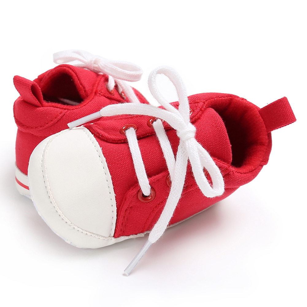 Spring Summer Newborn Canvas Shoes Sneaker Fashion 0-18 Month Baby Girls Boys Solid Soft Sole Shoes Prewalker First Walkers 15