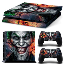 Waterproof Dustproof Vinyl Decal Skin Cover & PS4 Remote Controllers Skin Stickers - The Joker Smile Clown Prince of Crime
