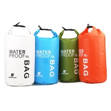 4Colors 10L Ultralight Portable Outdoor Travel Rafting Waterproof Dry Bag Swim Storage Blue/White/Orange/Green Camping Equipment