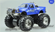 1:32 Scale Alloy Diecast Car Model For Monster Truck Bigfoot Car Crosscountry Big Wheel Friction Power Car - Blue / Red / Yellow(China)