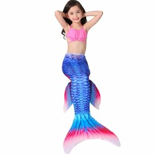 Mermaid Tails for Swimming Dress Mermaid Costumes Kids Swimmable Cosplay Costume Girl Clothing Children Clothes Mermaid Tail Set(China)