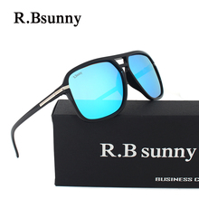 R55095 HD Polarized Men Sunglasses brand designer Retro Square Sun Glasses Accessories Unisex driving goggles oculos de sol