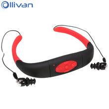 Ollivan IPX8 Waterproof Underwater Swimming Bluetooth Headset Neckband Sports Diving MP3 Wireless Earphone Swim Headphones