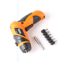 Household 6V dry battery cordless screwdriver electric drill power tool with LED light (batteries not included)