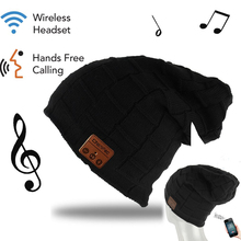 Winter ChenFec Smart Wireless Bluetooth Headset Knit Hats Headphone Bluetooth fashion Music Player Hat Earphone Christmas gift