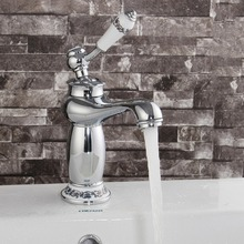Modern Style Lamp Shape Kitchen Water Faucet Brass Single Handle Bathroom Sink Basin Faucet Mix Tap With Two 50cm Inlet Pipes