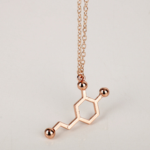 New Design Serotonin Molecule Necklace Chemical Formula 5-HT Necklace Hormone Molecules DNA Necklace Nurse Doctor Jewelry Gift(China)