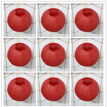 1pc 10cm 15cm 20cm 25cm 30cm 35cm 40cm Red Color Round Chinese Paper Lantern for Wedding Event Party Decoration Gift Craft DIY(China)