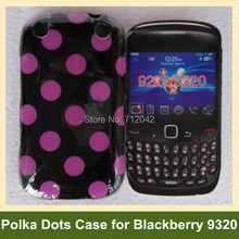 Newest Polka Dots Soft TPU Gel Cover Phone Case for Blackberry 9220 9320 Curve Free Shipping