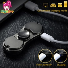 Electronic Cigarette Lighter Spin Hand Toy Finger Games Fidgets Hand Spinner For Autism and ADHD Increase Focus Keep Hands Busy(China)