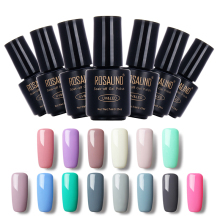 ROSALIND Black Bottle 7ML Pure Color 58 Colors 31-58  Gel Nail Polish Nail Art Nail Gel Polish UV LED Gel Macaron Semi Permanent