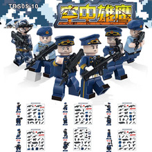 TBS 75-80 05-10, 93-98, 99-04 China Navy Armed Troops Swat Police Strike Weapon Building Blocks Toys for children NO BOX
