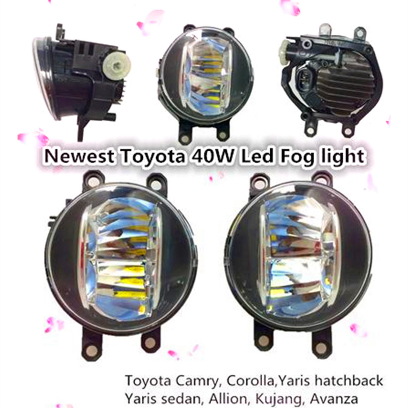 Pair Round Front Right &amp; Left Fog Light Lamp DRL Daytime Driving Running used car Lights For ToyotaLexus Camry Yaris PREVIA <br><br>Aliexpress