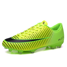 Ibuller Men Soccer Shoes Boys Football Boots Outdoor Soccer Cleats AG for Artificial Grass Ground Chuteiras Size 33-44 S157