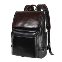 New Fashion Desig pu leather backpack men bags for school fashion backpack laptop holder bag casual backpack multi-function